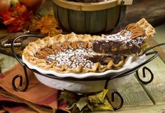 Bourbon Chocolate Pecan Pie. This looks amazing, recipes from the Dixie Crystals website!