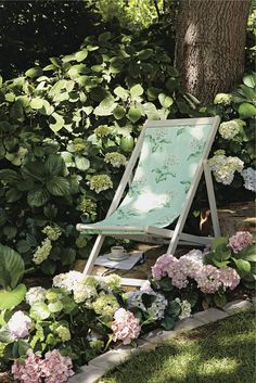 A gorgeous Laura Ashley deckchair - only suitable for summer though! #inmygarden