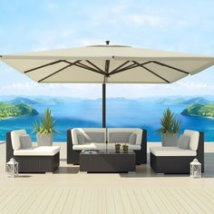Uduka Daly 5 Outdoor Sectional Patio Furniture Sofa Set