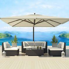 Uduka Daly 5 Outdoor Sectional Patio Furniture Sofa Set