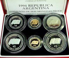 Argentina - Repubblica (1867-) Serie 1996.Fondo Specchio.
