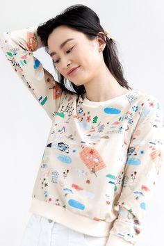 71b60b7290c9 Favorite Things Cuddle Shirt by Samantha Pleet Quirky Fashion, Cuddle,  Floral Tops, Cool