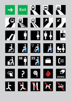 Prague subway pictograms
