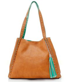 Sadie Satchel in Soft Caramel on Mint