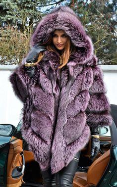 Violet Royal Saga Silver Fox Fur Poncho Like Sable Mink Chinchilla Coat Jacket | eBay