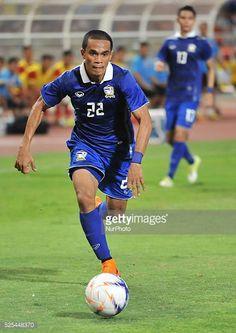 Ekkachai Sumrei of Thailand in actions during the 2018 FIFA World Cup qualifier match against Vietnam at Rajamangala Stadium in Bangkok Thailand on...