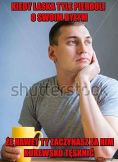 Polish Memes, Im Depressed, Funny Mems, Good Mood, Best Memes, Haha, Entertaining, Comics, Movie Posters