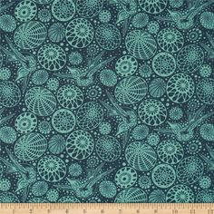 Acacia Hummingbird Midnight from @fabricdotcom  Designed by Tula Pink for Free Spirit, this cotton fabric is perfect for quilting, apparel and home decor accents. Colors include shades of green.