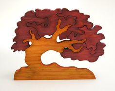 Escandinavian Tree of Wishes - Good Luck Gift - Wooden Home Decor Puzzle - Chestnut #teampinterest