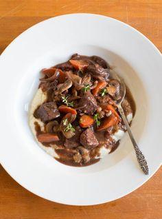 Sous Vide Beef Bourguignon // lickmyspoon.com