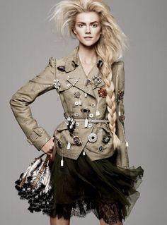 Vogue military jacket