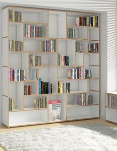 Open modular MDF #bookcase HANIBAL by Tojo Möbel | #design FLOID Product Design