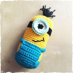 Crochet Minion Baby Rattle