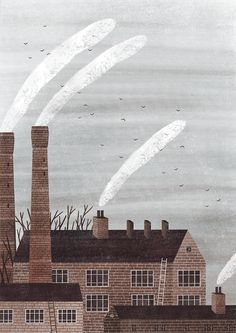 illustration for the article 'History of the Chimney' for SisterMAG 2017