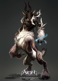 View an image titled 'Snow Centaur Male Art' in our Aion art gallery featuring official character designs, concept art, and promo pictures. Creature Concept Art, Creature Design, Magical Creatures, Fantasy Creatures, Fantasy Kunst, Fantasy Art, Fantasy Races, Character Concept, Character Art