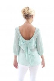 Just Too Cute Blouse-Mint