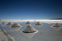 Salt Mounds, Salar de Uyuni Bolivia.