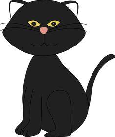 Cute Black Cat Clipart