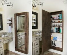 You will love this Bathroom Mirror Storage and it's the perfect DIY that comes with FREE Plans.