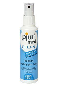PJUR MED CLEAN SPRAY Fabricado en Alemania, es un limpiador para los juguetes eróticos y un limpiador íntimo.  Reduce notablemente los ol...