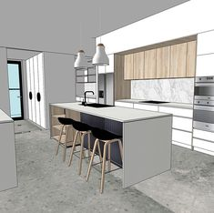 Online courses and resources for designers, decorators and home renovators. We offer courses about how to learn SketchUp for Interior Design plus how to start and grow and interior design business. Interior Design Renderings, Interior Sketch, Interior Design Drawing, Interior Design Examples, Interior Design Presentation, Interior Rendering, Interior Concept, Residential Interior Design, Interior Doors