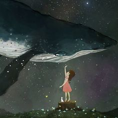 Stars are born babies , just like us , they live there lives then die without fuss Orca Art, Whale Art, Elements Of Art, Fish Art, Cute Illustration, Sea Creatures, Illustrators, Watercolor Paintings, Fantasy Art