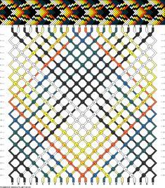 Friendship bracelet pattern 65194 - 24 strings, 8 colours