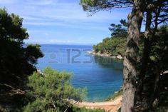 blue bay on the island Losinj, Croatia