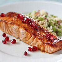 Pomegranate Salmon by Joy of Kosher, great Rosh Hashana dinner idea!