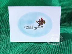 For the Birds quick christmas card ; Stampin Utopia Voor het bestellen van Stampin Up scrapbook en kaarten materialen