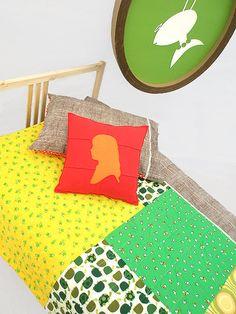 Twin Bedding Quilt Set , Child Bedding Set Frog Buddies. $326.00, via Etsy.