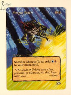 Morgue Toad - Extended MTG Alter - Revelen's Light Altered Art Magic Card #WizardsoftheCoast
