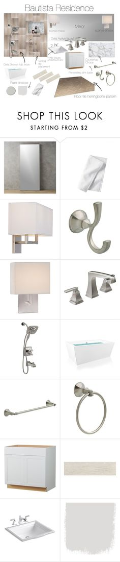 sample board by royceri on Polyvore featuring interior, interiors, interior design, home, home decor, interior decorating, George Kovacs by Minka, Serena & Lily, CB2 and Kohler