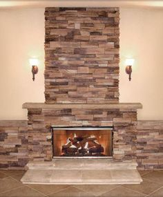8 Warm, Cozy Stone Fireplace Surrounds: Stone Fireplace Surrounds: Quick Stack