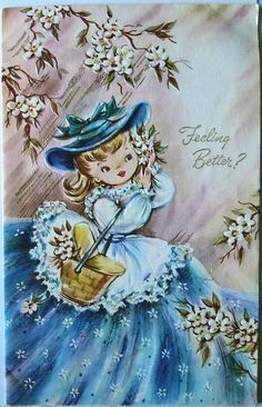 Vintage Get Well Greeting Card by MissConduct*, via Flickr