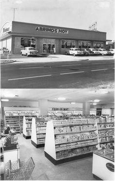 Supermercado Minimax, esquina de la calle 42 y la 13 Marianao - Feburary 1956.