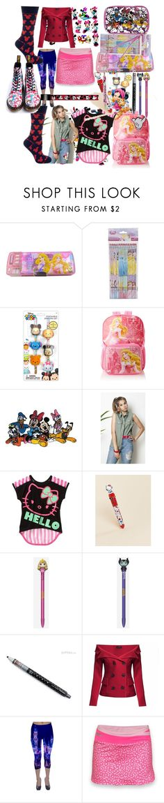 """""""girly mix"""" by lerp ❤ liked on Polyvore featuring Disney, Hello Kitty, Pop Sick Vintage, Funko and Cufflinks, Inc."""