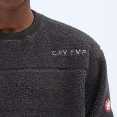 Cav Empt C.E. Fleece Crew Neck Charcoal