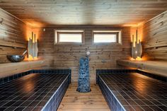 Omakotitalo, 230 m2, Ikaalinen, Aninkainen.fi Tampere | Omena-asunnot Oy Modern Saunas, Wellness Massage, Spa, Shower, Bathroom, Home Decor, Trendy Tree, Steam Room, Rain Shower Heads