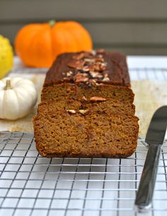 A hybrid of pumpkin pie and pumpkin bread, this gluten free Coconut Flour Pumpkin Bread is moist, delicious, and the healthiest pumpkin bread recipe ever!