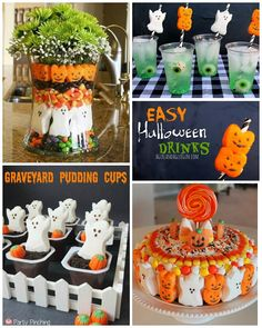 I didn't even know they made Halloween peeps…I thought it was only an Easter thing! ThenI found a centerpiece on Pinterest and fell in love :-) Halloween Peep Centerpiece (unknown source) Peep Straws Graveyard Pudding Cups Halloween Peep Cake Edible Pet Ghosts Halloween Ghost Brownies Peep Skewer Centerpiece Halloween Peep Smores (unknown source) Make sure …