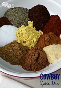 Spice Mix The Cowboy Spice Mix is a great rub for grassfed beef steaks and other red meats!The Cowboy Spice Mix is a great rub for grassfed beef steaks and other red meats! Homemade Spices, Homemade Seasonings, Steak Rubs, Beef Steaks, Dry Rub Recipes, Do It Yourself Food, Spice Mixes, Spice Blends, Spice Rub