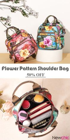Leisure Style Outdoor Flower Pattern Shoulder Bag Crossbody Bag Mommy Backpack For Women is designer and cheap on Newchic. Clutch Bag, Crossbody Bag, Outdoor Flowers, Cool Backpacks, Flower Patterns, Sewing Patterns, Cute Bags, Online Bags, Butterflies