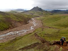 Picture of hikers in Laugavegur in Iceland