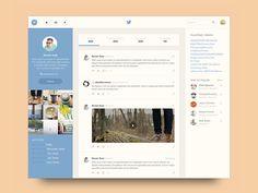 Redesign concepts for popular websites — Muzli -Design Inspiration — Medium Design Web, Game Design, Tool Design, Flat Design, Graphic Design, Web Dashboard, Ui Web, Dashboard Design, Web Layout