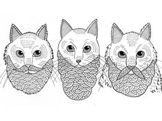 Cats with Beards by Michhael C. Hsiung. He is a good drawer.