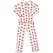 She's sure to love the comfort of this cute pajama set from Sara's Prints. Cute Pajama Sets, Cute Pajamas, Kids Pajamas, Kids Christmas Outfits, Christmas Clothes, Holiday Pajamas, Weaving Process, Ruffle Sleeve, Dancing