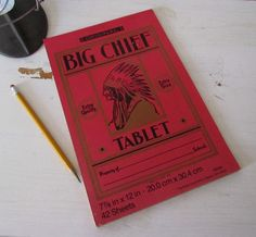 Big Chief Tablets   and what about paste with the little brush in it?
