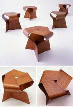 Tendo Japanese Furniture: Yamanaka Group Mushroom Stool