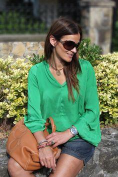 Green Blouse by Zara